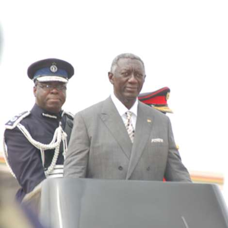President Kufuor Inspecting The Parade