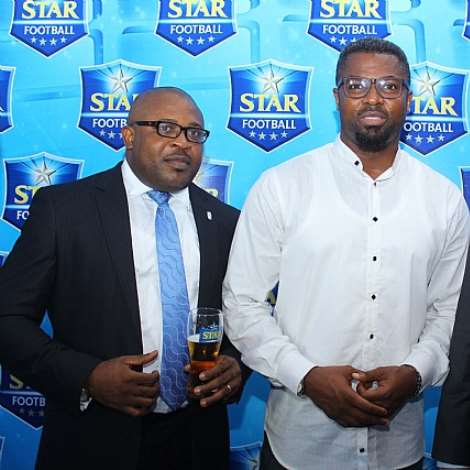 CORPORATE AFFAIRS ADVISER, NIGERIAN BREWERIES, KUFRE EKANEM, MOSES PRAIZ AND MARKETING DIRECTOR, NIGERIAN BREWERIES, WALTER DRENTH