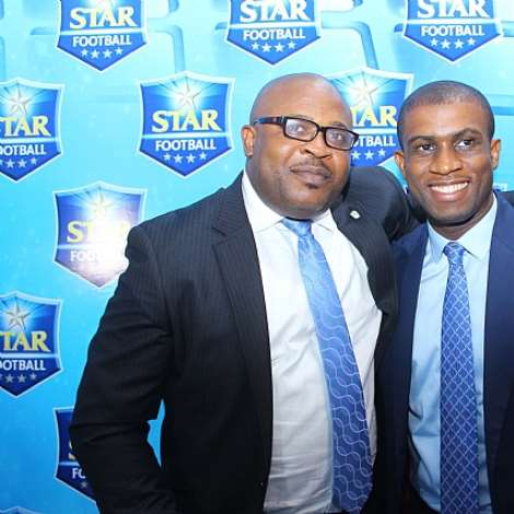 CORPORATE AFFAIRS ADVISER, KUFRE EKANEM & JOE HANSEN AT STAR FOOTBALL ANNOUNCEMENT