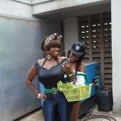 Waje Is A Housewife, Tiwa Savage Pounds Yam In Lingerie! Behind The Scenes Pics: Waje Ft Tiwa Savage 'Onye'