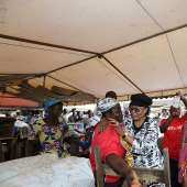 Accra Floods: First Lady Commiserates With Market Women