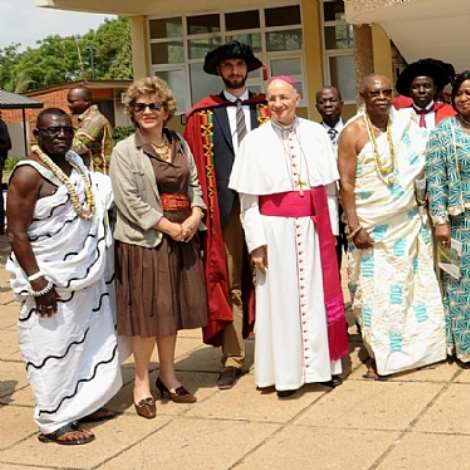 Veep at the second congregation of the Catholic Institute of Business and technology in Accra