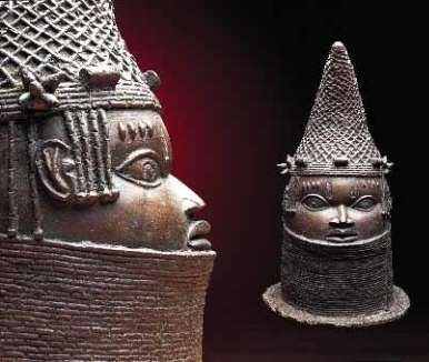 Commemorative Head of a Queen-Mother, Benin. Field Museum, Chicago.