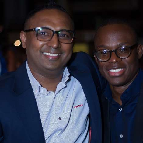 HEAD OF MARKETING, 7UP BOTTLING CO, NORDEN THURSTON, AND SEGUN OGUNLEYE, BRAND MANGER 7UP