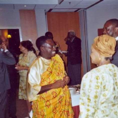 OCTOBER 19TH, 2006-Ambassador Baah-Duodu with the South African Ambassador to Switzerland, H.E. Mrs. Konji Sebati and Mr. Issa Abdullahi of the Swiss African Forum.