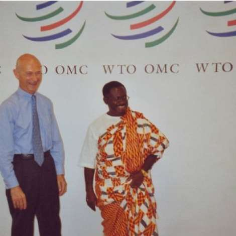 OCTOBER 19TH, 2006-Presentation of Credentials by H.E. Mr. Kwabena Baah-Duodu, Ambassador and Permanent Representative of Ghana to the Director- General of the World Trade Organisation (WTO), Mr. Pascal Lamy, at the latter's office at the WTO Headquarters, Centre William Rappand, Geneva.
