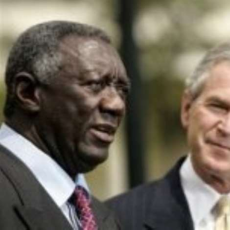 The prsident of Ghana (Kuffour) and The presiden of USA (Geeorge Bush)