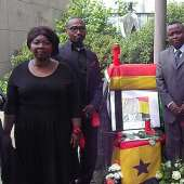 ghanaians in germany observe a minute silence for the late Mills