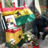 ghanaians in germany observe a minute silence