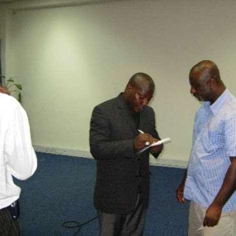 Mr. Ernest Angmortey  of Platinum Technologies and  Mr Kobina.