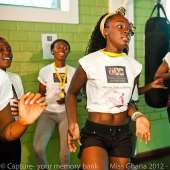 Miss Ghana 2012 finalists hit the Gym!