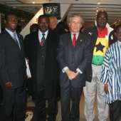 H.E. Ambassador Kwabena Baah-Duodu in Graz for the International Friendly Match with Austia, on Sunday 25th March, 2007