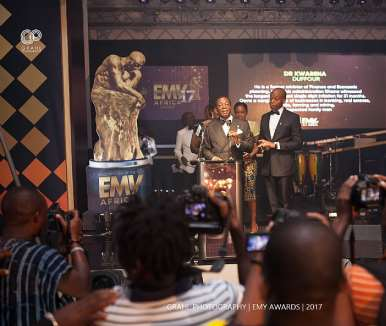 Dr. Kwabena Duffour Receiving His Award For The Ultimate Man Of The Year 2017