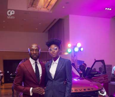 Kwaku Boateng Akuoko, Ceo Of Brommon Bespoke With Model, Vica Micheals