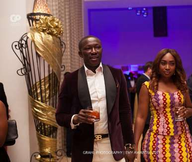 Nana Kwame Bediako, Ceo Of Kwarleys Group With Wife
