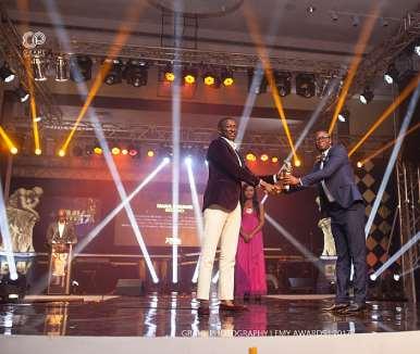 Nana Kwame Bediako, Ceo Of Kwarleys Group Receiving His Award