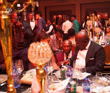 Sir Sam Jonah Interacting With Kwaku Boateng Akuoko, Ceo Of Brommon Bespoke
