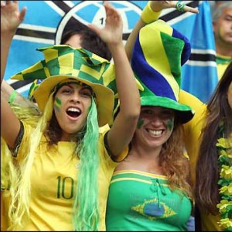 Brazil's fans expect their team to see off Ghana in Dortmund and reach the quarter-finals of the World Cup