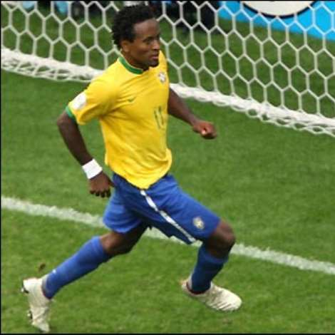 Ze Roberto seals victory for the Brazilians by virtually walking the ball into the net for the third goal six minutes from time