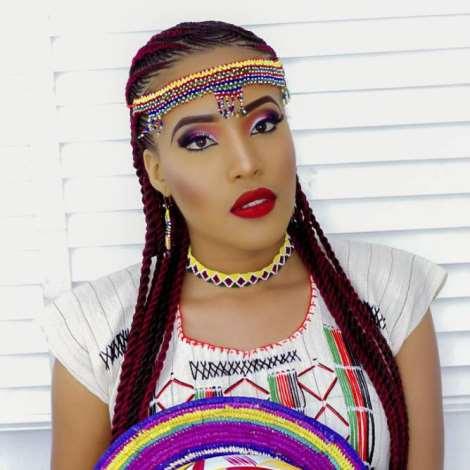 Nigerian Born Us Beauty Queen Krystal Okeke Dazzles In Fulani Attire