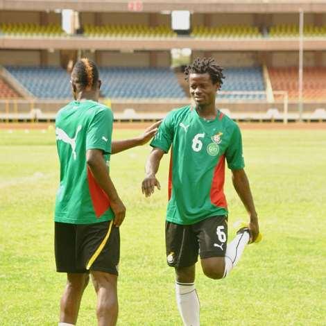 Black Stars training at the Kasarani Stadium in Nairobi