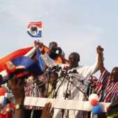 NPP outdoors Flag-Bearer and Parliamentary Candidates