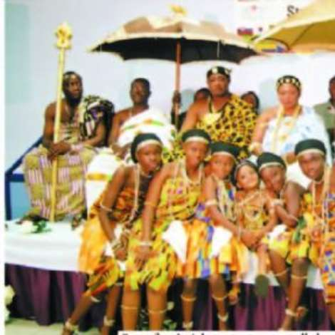 Gyamfuaa's Adowa troupe was all there to support Nana Durowaa