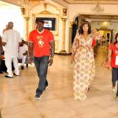 OMOTOLA IN SILVERBIRD ABUJA FOR AUTHOGRAPH SIGNING