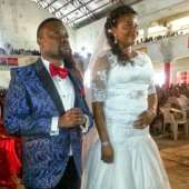 Okon Goes To Altar With Bride In Uyo