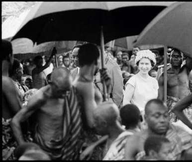 GHANA. Queen Elizabeth II on a state visit to Ghana. 1961.