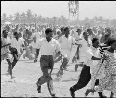 GHANA. Accra. Ghanaians celebrate state visit by Queen Elizabeth II. 1961