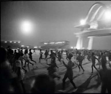 GHANA. Accra. Ghanaians celebrate state visit by Queen Elizabeth II. 1961.
