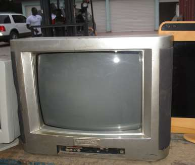 1ST TV SET (MADE OF WOOD)