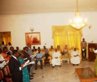 Ministers of State being sworn in