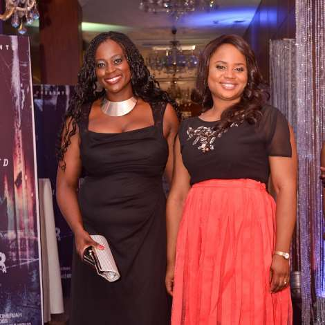 Uru Eke, stunning on the black carpet of her producing debut 'REMEMBER ME