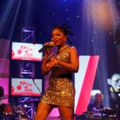 Female artiste Mzbel shines at first Red Concert