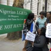 Nigerian Lesbian, Gay, Bisexual And Transgender Activists In London Protest Against Anti -Same Sex Laws