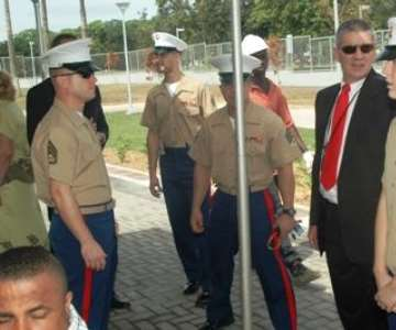 United States Marines are around to protect the US Embassy in Accra