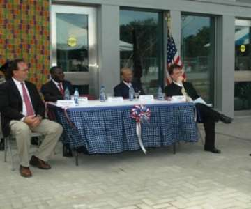Ms Pamela Bridgewater, US Ambassador to Ghana delivering her address at the ribbon-cutting ceremony of the US Embassy in Accra