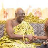 Miss Commonwealth Ghana Princess Duncan Visits Swedru And Cape Coast Chiefs Ahead Of The Fetu And Akwambo Festivals
