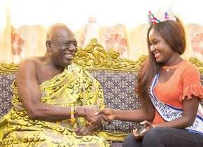 Miss Commonwealth Ghana Princess Duncan Visits Swedru And Cape Coast Chiefs Ahead Of The Fetu And Akwambo Festivals