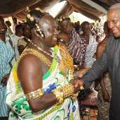 President Mahama Tours Bui Dam Project Site