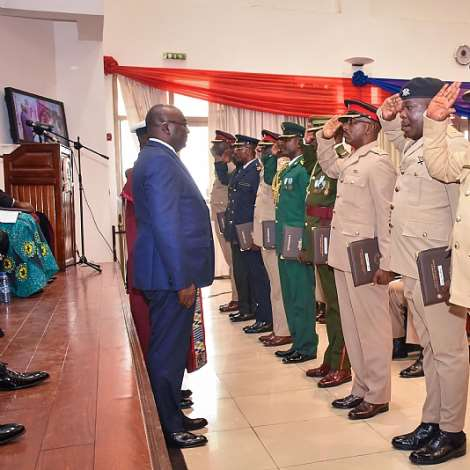 Dr Bawumia At Graduation Ceremony Of Course 38 Of GAFCSC