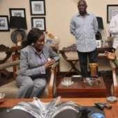 Nana Konadu Agyeman Rawlings' visit to Nana Addo