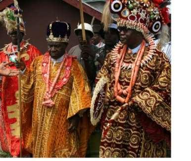 KING PROF TJT PRINCEWILL (AMANYANABO OF KALABARI) WITH HIS COUNCIL MEMBERS