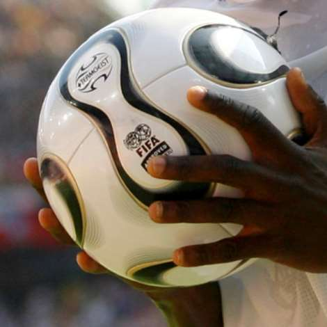 Ghana's Sulley Ali Muntari Holds The Ball During Their Group E World Cup 2006 Soccer Match Against The Czech Republic In Cologne