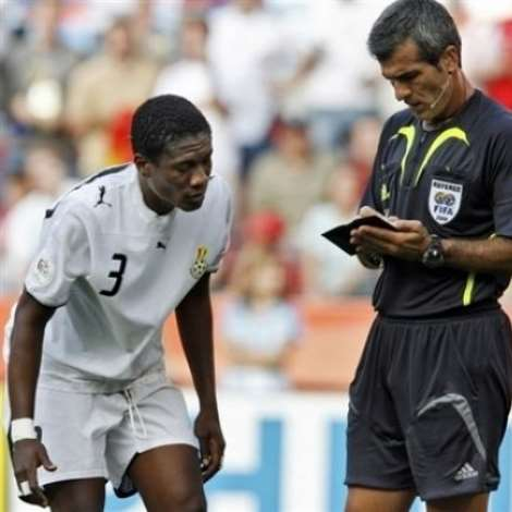 Booking blow Asamoah Gyan's second booking at the FIFA World Cup™ came against the Czech Republic and he will miss the final group game against USA