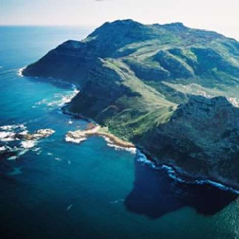 The Cape Peninsula has breathtaking views of the ocean from the green cliffs