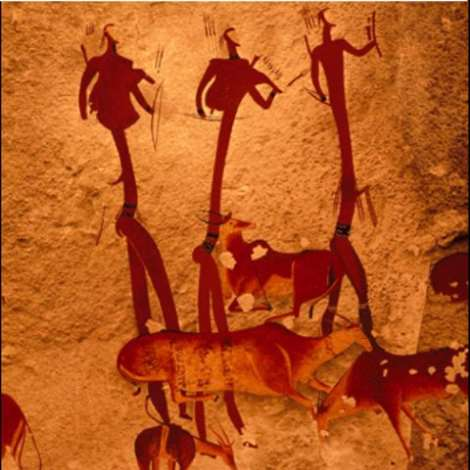 Rock art from the San people