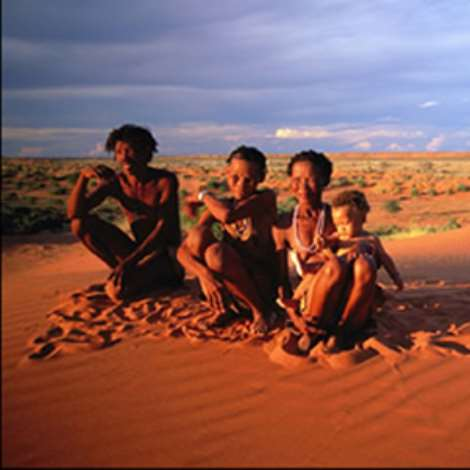 There are still a few San people living in the Kalahari in the north west part of South Africa
